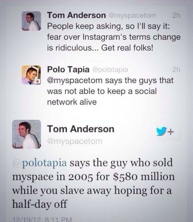 When Tom from Myspace was too real: