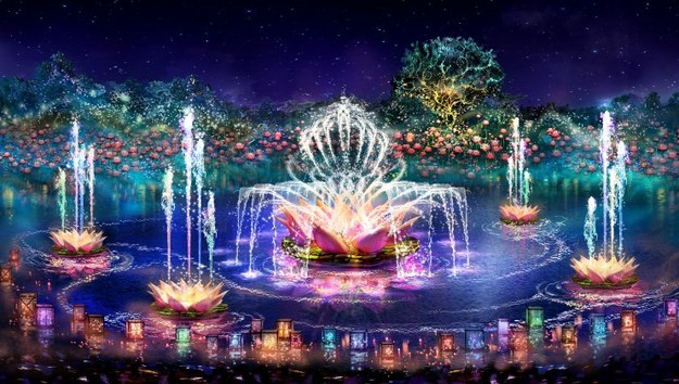 And over at the Animal Kingdom, the park's hours will be extended into the night, and feature a brand-new show, Rivers of Light.