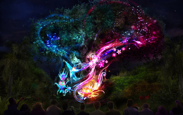 The Tree of Life is an anchor to magically awaken the park in a unique way [at night].