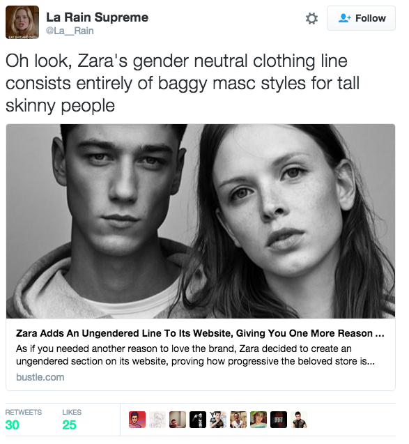"""Quite frankly, they're pissed that """"Ungendered"""" is actually so normative."""