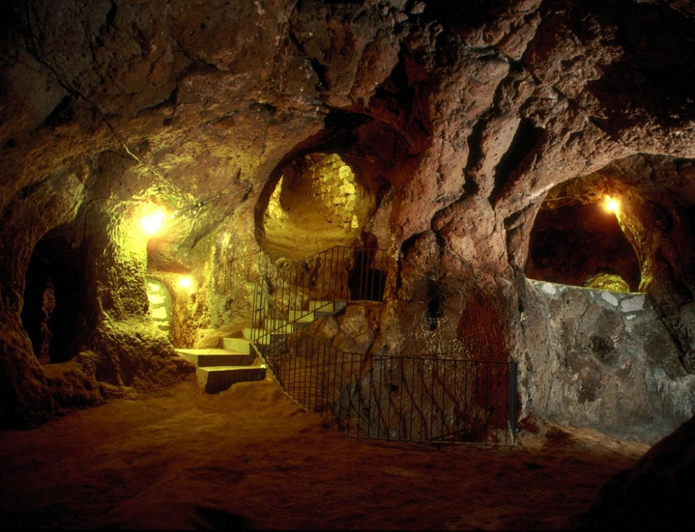 A guy in Turkey wanted to make his cellar bigger and suddenly found himself in an underground city.
