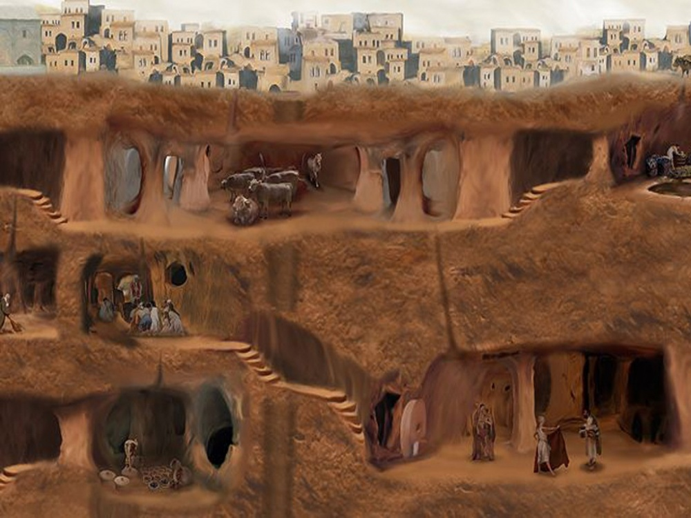 The city is about 3000 years old and could hold up to 20 000 people hiding from Persians.