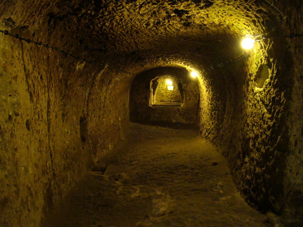 The city had wine cellars, kitchens, schools, stores and even cemeteries.