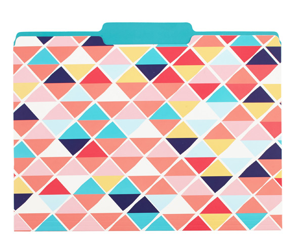 File folders for people who love color.
