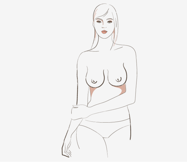 There are bell-shape boobs, which are slimmer at the top and fuller at the bottom.