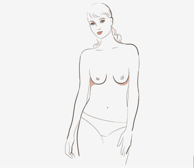 """~Slender~ breasts are defined as """"thin breasts with nipples pointing downward."""""""