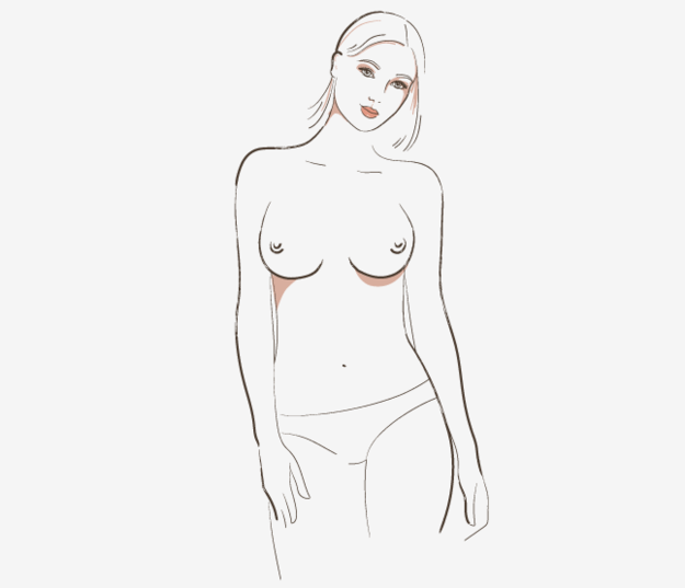Side-set boobs feature a wide space in between the breasts.