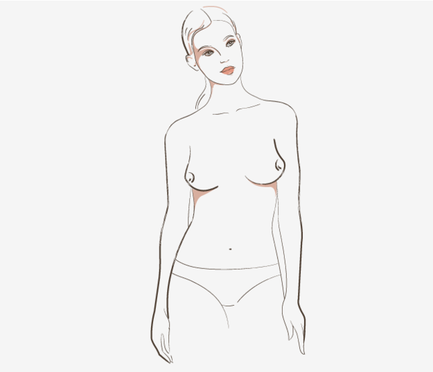 East-west boobs are just like side-set boobs, except the nipples are pointing outward.