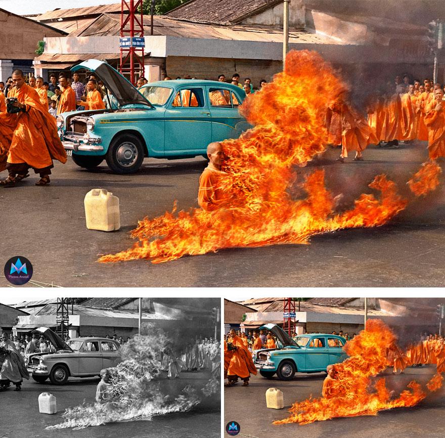 1. The burning monk
