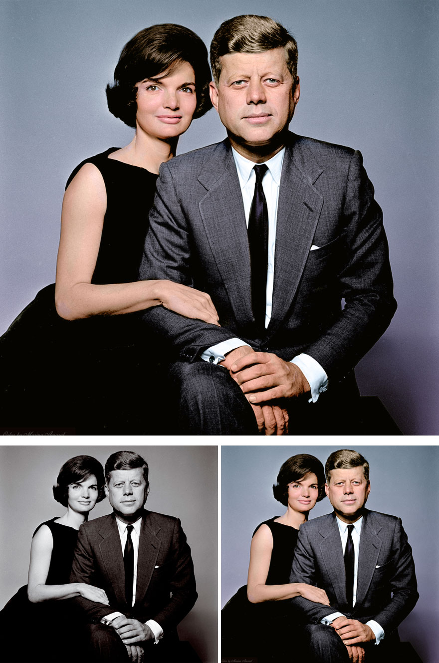 9. John And Jacqueline Kennedy