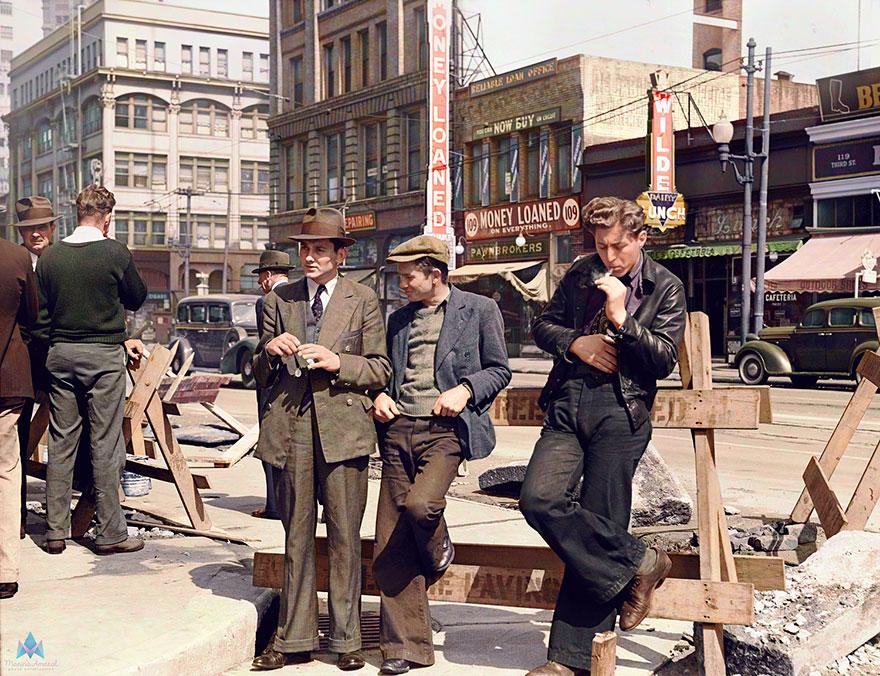 17. Unemployed men In San Francisco