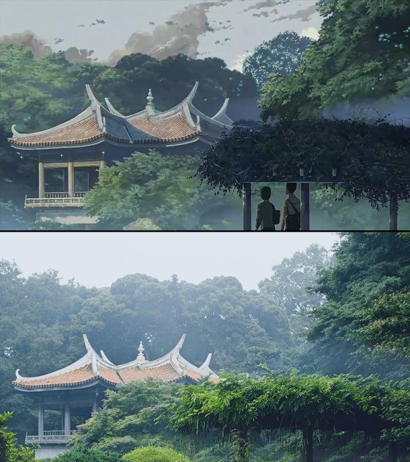 19張動漫場景vs實際真實地點「完全分不出來對比照」,你看得出哪一個才是動畫場景嗎?