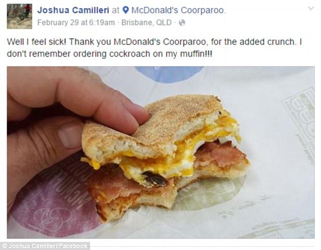 他一口咬下可口的麥當勞滿福堡卻發現「讓人直接嘔吐」恐怖加料。愛吃麥當勞的千萬別看...