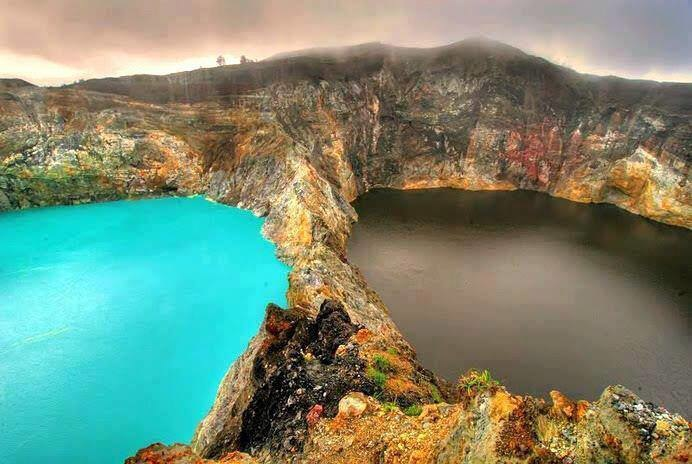 The Lakes of Mount Kelimutu, Indonesia are absolutely stunning -- and are said to be where departed souls find rest.
