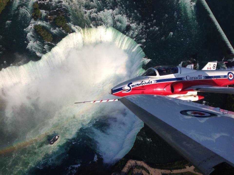 Chris Hadfield posted this view of Niagara Falls.