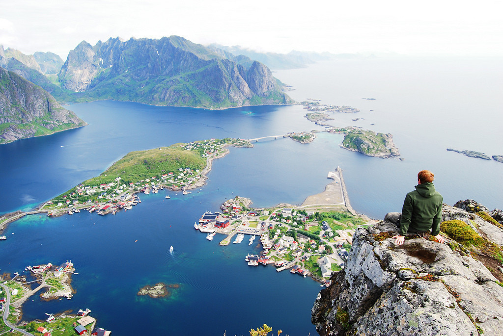 A stunning view of the fjords in Norway.