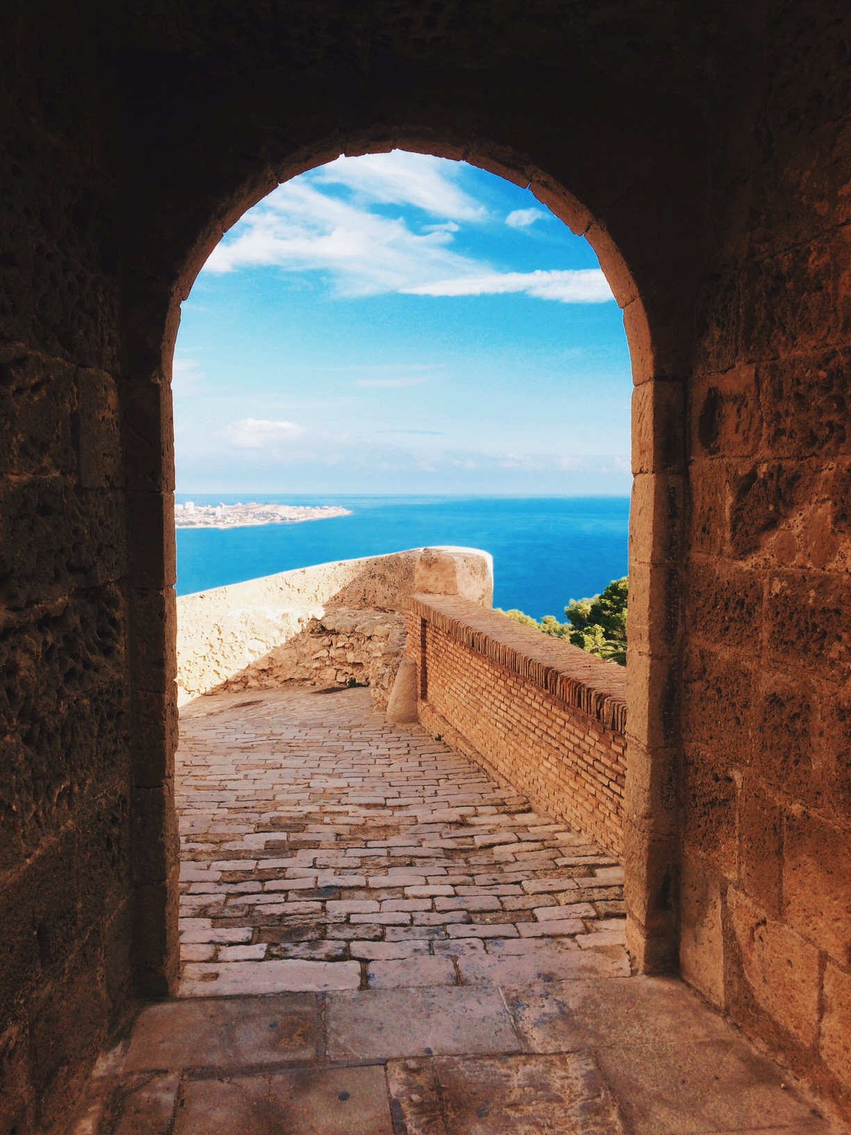 A view from a doorway in Alicante, Spain.