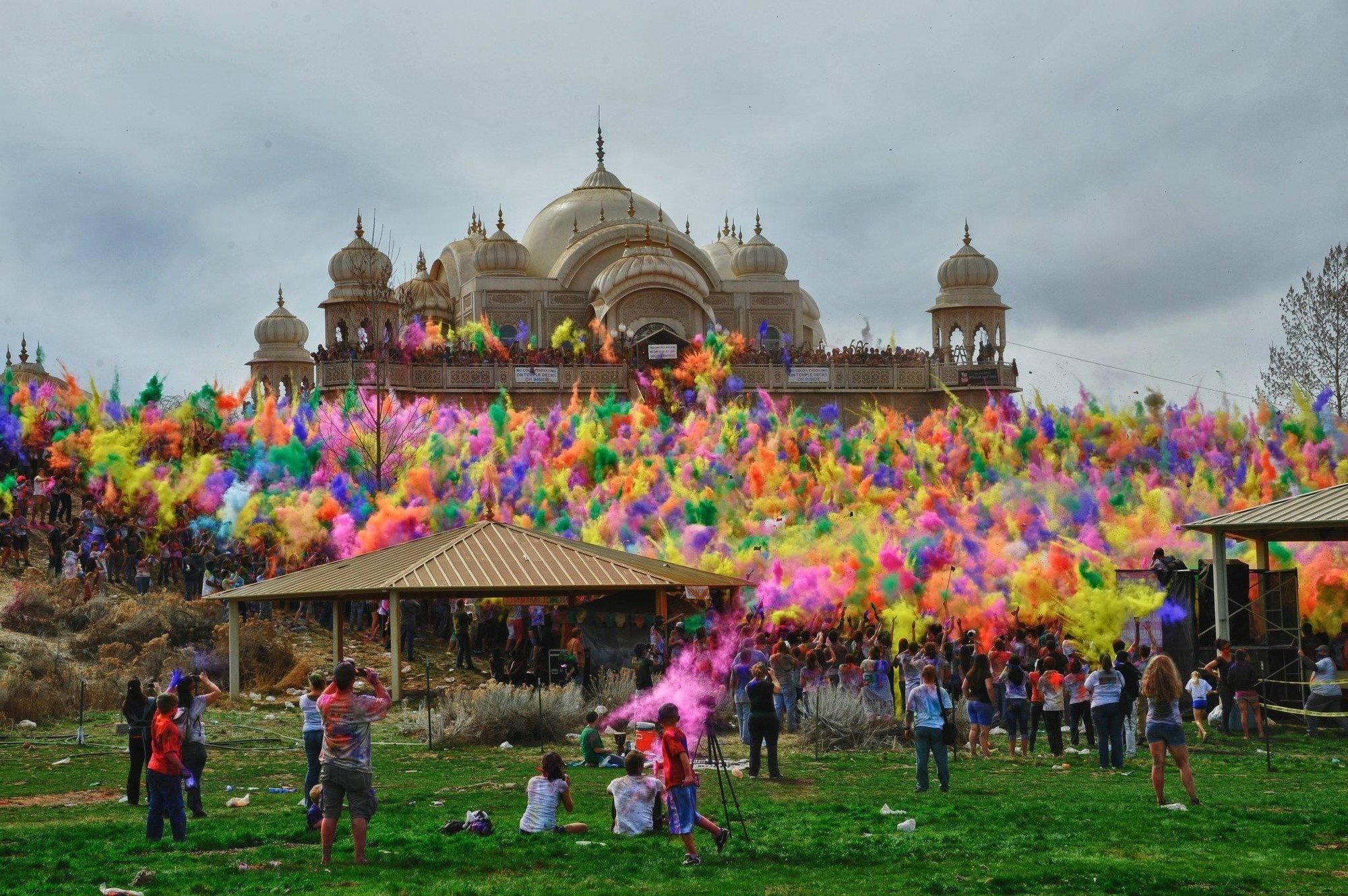 Some seriously cool sights at the Festival of Colors at Sri Sri Radha Krishna Temple.
