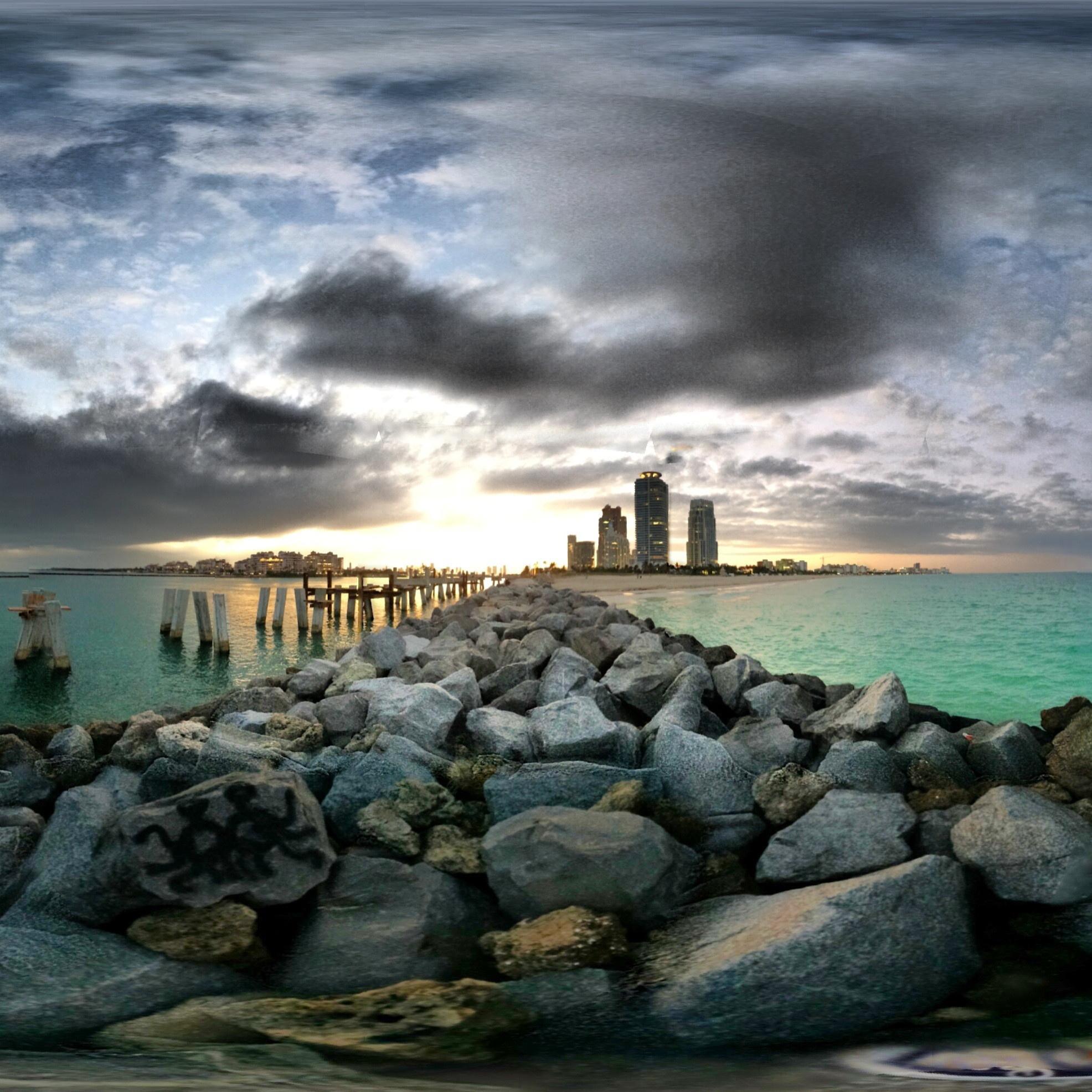 The breakers on Miami Beach.