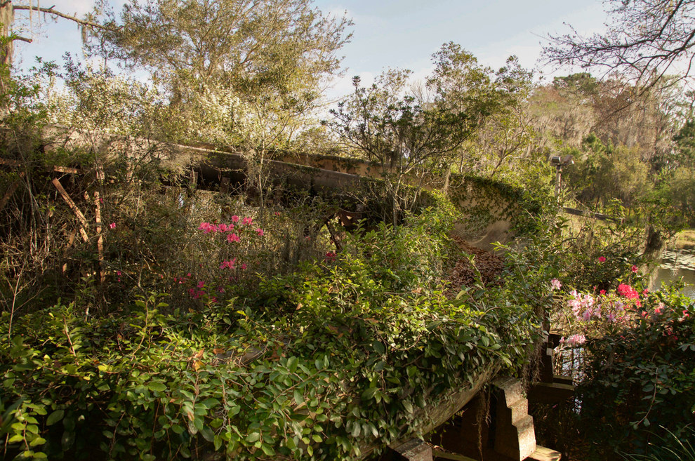 """The waterslides were especially moving for Lawless. """"They were completely covered in vines and flowers. I think it was just about the most beautiful thing I've ever witnessed on any project I've done."""""""