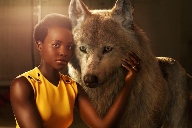 Lupita Nyong'o voices Raksha, who cares for Mowgli like her own cub.