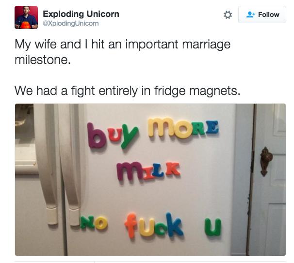 When you find creative ways to argue: