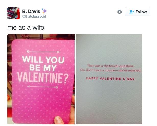 When you celebrate Valentine's Day: