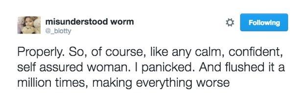 自信的她大膽在約會對象家中大便,一按下沖水鈕後「比災難片還精采的悲劇」讓數千網友都瘋狂分享了!