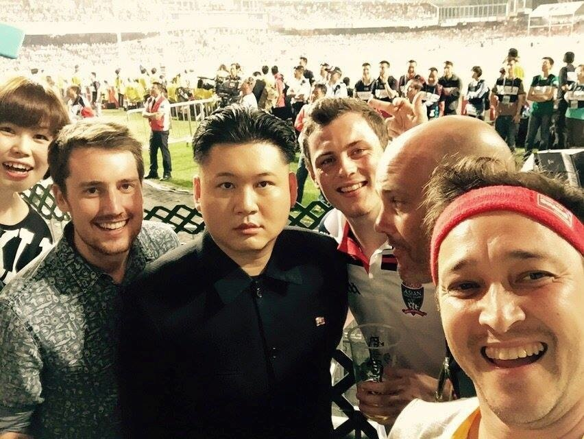Met Kim Jong-Un at a soccer game the other day.
