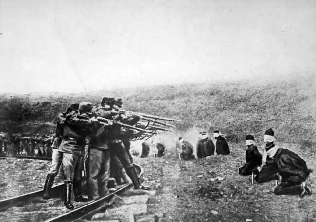 A Serbian terrorist group shot and killed Franz Ferdinand, which started the devastating struggle. Germany sided with the Austro-Hungarians, while France and Russia sided with Serbia.