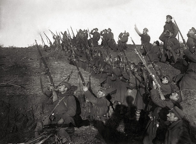The trench network of WWI stretched roughly 25,000 miles.