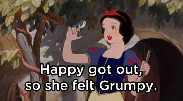What happened after Snow White sat in the bath, feeling happy?