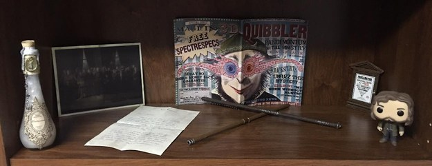 And they definitely didn't forget about Luna's beloved Quibbler. But just try not to sob when you look in the very left corner...