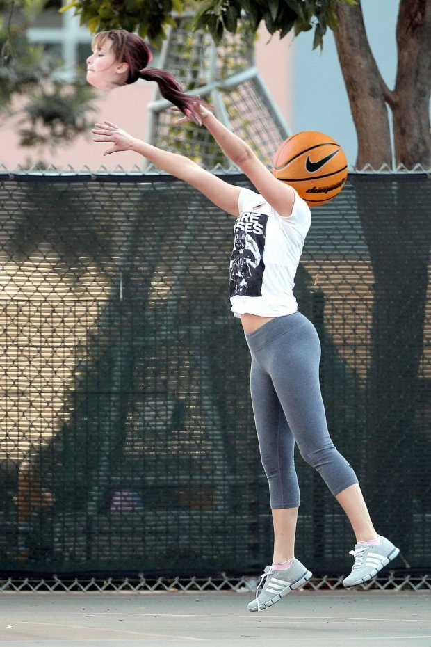 Jennifer Lawrence playing basketball got the internet treatment Credit: Reddit