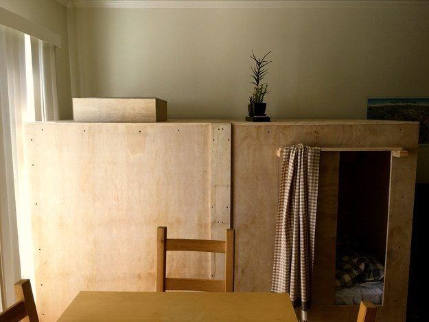 He set out on an apartment hunt with a friend and was immediately struck by the all-too-common San Francisco real estate dilemma where a place might have a huge living room, but not enough bedrooms. So he decided to build a bedroom, or pod, of his own.