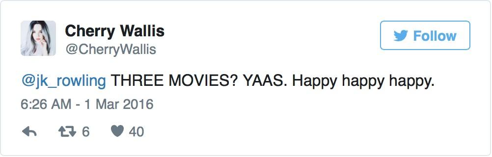J.K.羅琳首度宣布還有2部《哈利波特》系列電影即將開拍,影迷聽到消息都興奮炸了!