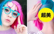 這個女生染馬卡龍髮色已經很新潮,但當她「一把頭髮綁起來」你就會立刻拿著她的照片衝去找設計師!