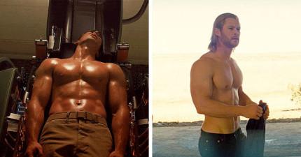 5位胸肌已經豐滿到讓很多女生都羨慕的漫威英雄天菜。誰才是你心目中的「超猛肌肉男神」?