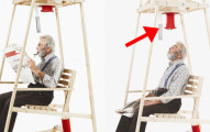 這乍看之下只是一張普通搖椅,但當他開始搖的時候「溫暖整個冬天」的神奇事情就會發生!