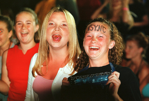 Kids then: She wrote NSYNC on her head.