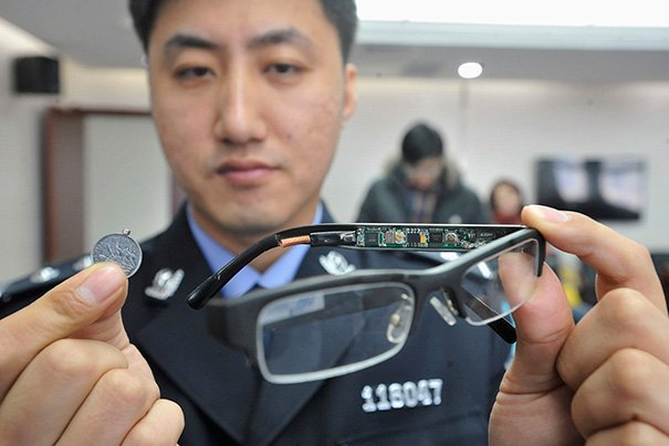 You can even get a little high-tech with them. These glasses have a hidden camera and receiver in the lense.