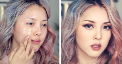 韓國神級化妝師傳授大家「如何畫出最美艷的桃花妝」,這過程太心機了!