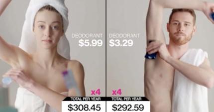 國外網站比較「男性和女性早上梳洗打扮的費用」,看到沒人發現的「女性稅」你就真的會被嚇到了!