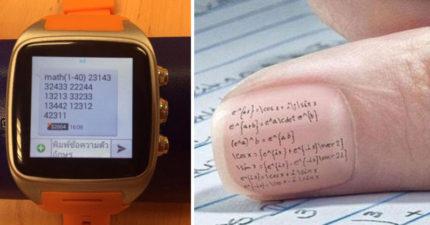 老師一直不知道為什麼壞學生的功課越來越好,直到抓到他們在使用比智慧手錶還強大的高科技!