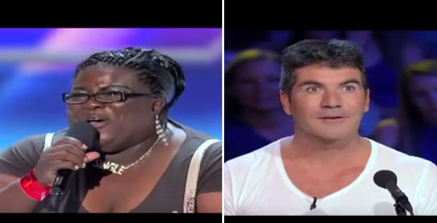 這名叫做熊貓的胖胖女生上台時評審都忍不住笑出來了,但當她一開口「靈魂爆炸」他們嘴巴都變成O型了!