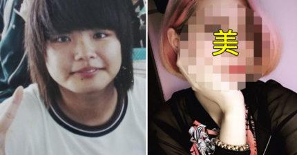 妹妹出賣「曾經胖到70公斤」的姊姊成長歷史照,她狂瘦20公斤後的那張臉真的太驚人了!
