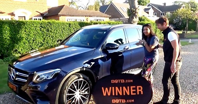 STIAN_SUPERCAR WINNERS_IMAGE001 A WIFE won a £95,000 Mercedes in a supercar competition…just seven months after her husband won a £125,000 McLaren in the same competition.  Lakshmi Thurairatnum took delivery of the gleaming black Mercedes GLE63-S AMG Coupe on Monday (May 16) this week after entering the Best of the Best (BOTB) supercar competition.  The recruitment director had entered the competition after husband Prash, a practice manager of a health centre, won a red McLaren 540C.  The couple, of Epsom, Surrey, also both scooped £10,000 in cash - which was hidden in the boot of the respective cars and free petrol for a whole year. Lakshmi Thurairatnum with Mercedes STIAN ALEXANDER 07528 679198
