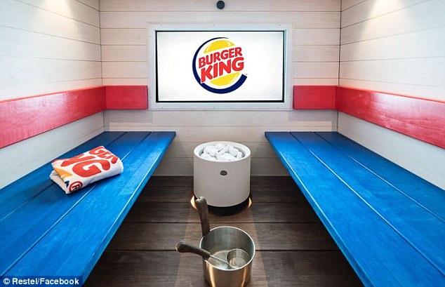 這間漢堡王竟然蓋了「可帶漢堡進去吃的桑拿室」,原以為超蠢但沒想到功能這麼強大!(但超貴)
