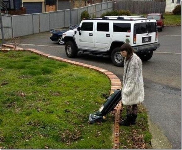 The first outdoor vacuum.