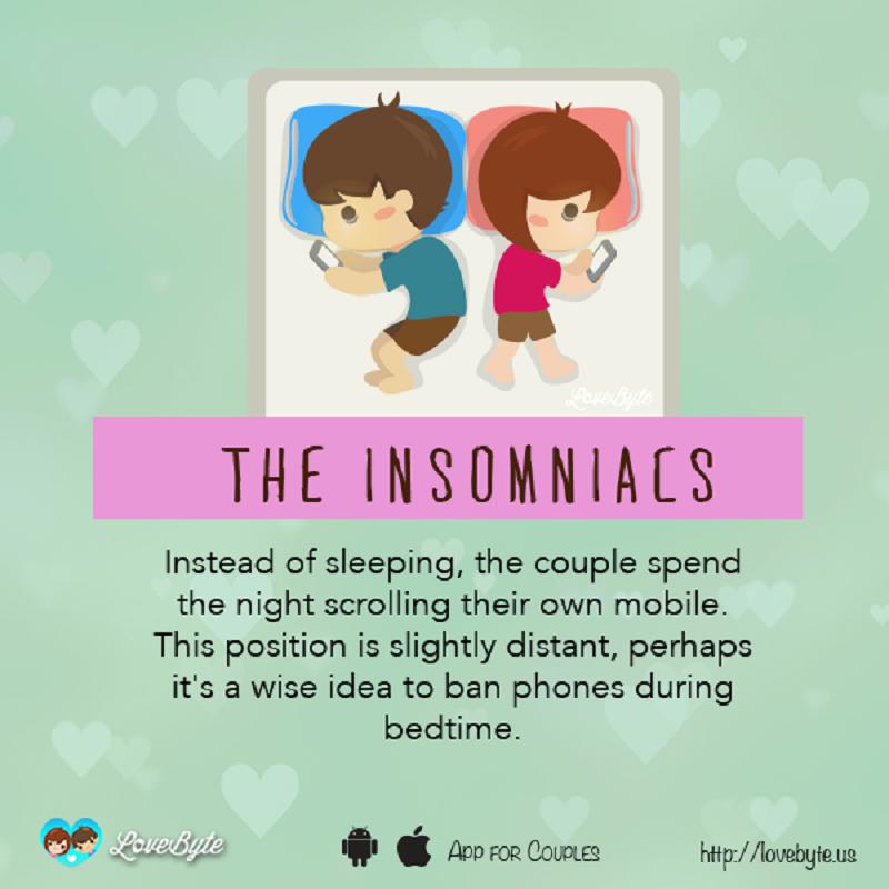 10種能讓你知道現在跟另一半感情狀況的「情侶睡姿」圖片!如果是第一種就要小心了。